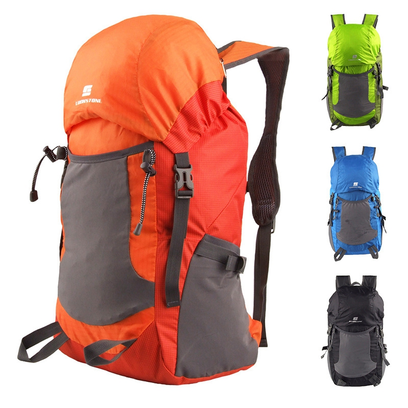 Plegable ligera mochila de Nylon Impermeable Bolsa de Viaje de Gran Capacidad Al