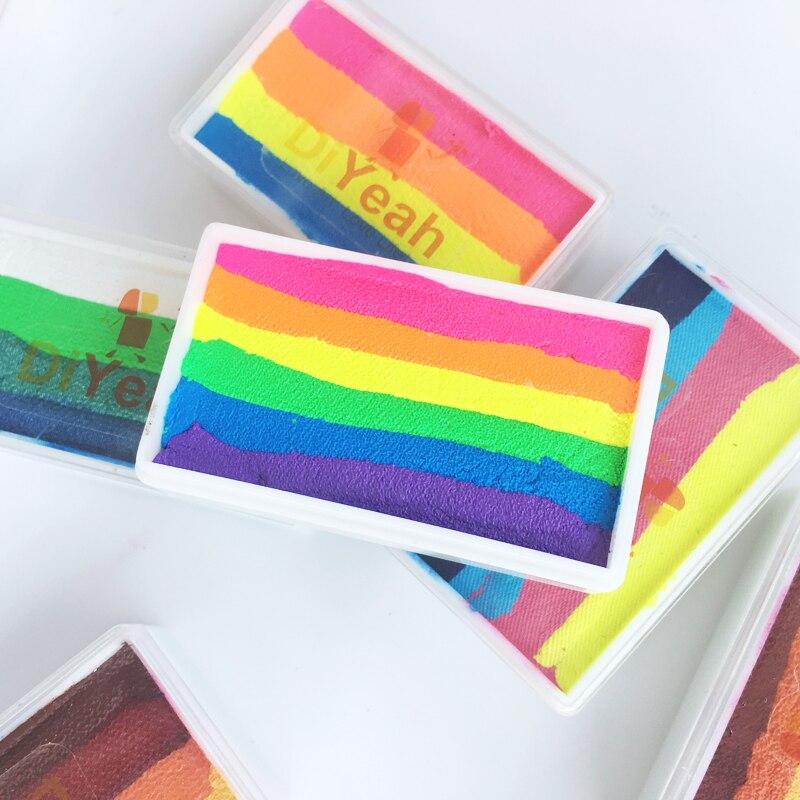 rainbow body face paint