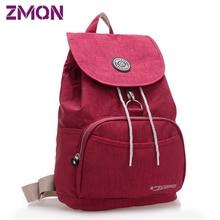 Mode Nylon en cuir marque voyage quotidiens coréens sac à dos femmes sac à dos cordon sac étanche pour ordinateur portable pour les étudiants adolescente