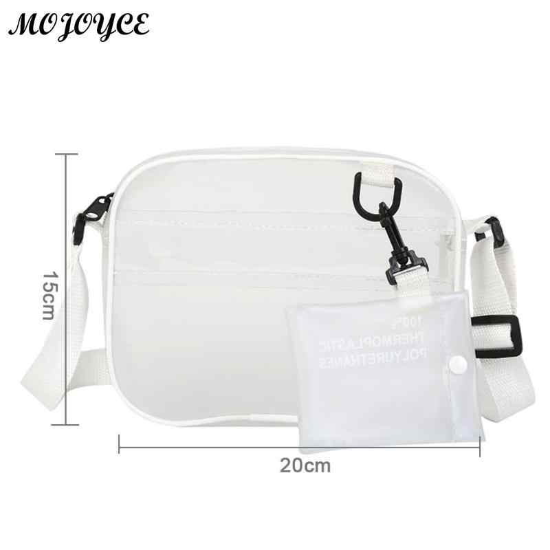 68cf96fb95 ... Fashion Women Bag PVC Jelly Transparent Crossbody Mini Bags Girls  Zipper Messenger Casual Shoulder Handbags Hot