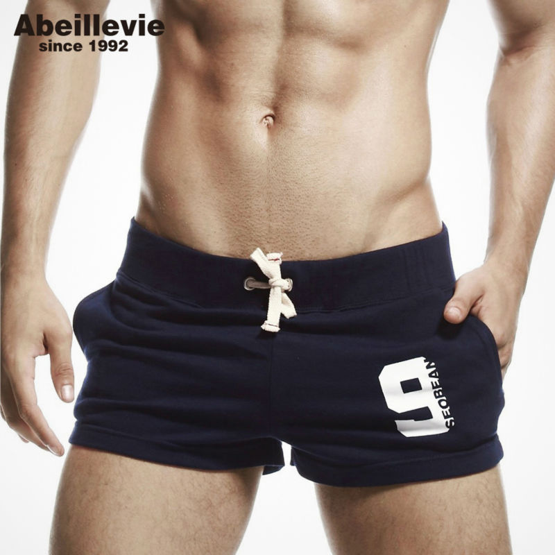 New Fashion Casual Men's Shorts With Inside Pocket Summer Leisure Men's Trunks Comfort Homewear Fitness Workout Shorts Men PF060
