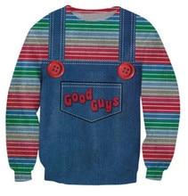 Das böse Guten spielzeug hoodies männer/frauen halloween Chucky druck 3d sweatshirt lässige pullover plus größe S-XXL Freies verschiffen