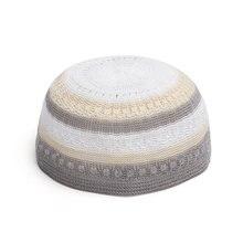 Muslim Unisex Embrodery Islamic Prayer Men Islamic Jersey Skull Beanie Cap  Head Wear Hats Fashion Accessories 41a3d129bdf1