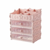 European Cosmetics Storage Box Desktop Partition Multi layer Container Bathroom Plastic Follower Pattern Storage Drawer