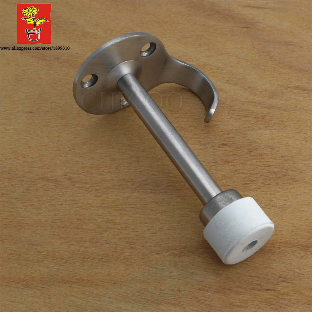 wholesale 10pcs stainless steel 304 decorative white rubber door stoppers hat hooks door stop glass shower