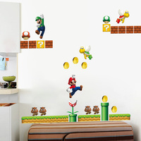 Classical Game Super Mario Wall Stickers For Kids Room Home Decor Zooyoo1444 Cartoon Mural Art Playroom