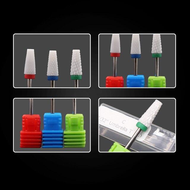 Ceramic Milling Cutter Nail Drill Bits Manicure Machine Ceramic Cutters For Manicure Ceramic Milling Cutter Pedicure Manicure 4