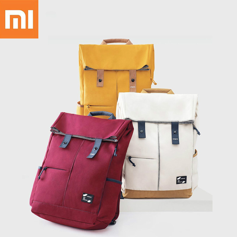 Xiaomi Urevo Backpack Ipx4 Water Repellent 13L Large Capacity Knapsack Men Women Fashion Casual 14/15.6 Inch Computer Bag