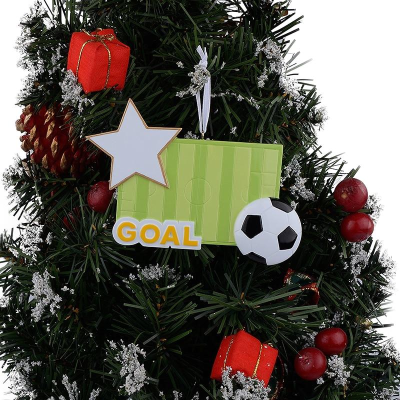 Adornos navideños artesanales de resina deportiva de campo de - Decoración del hogar - foto 4