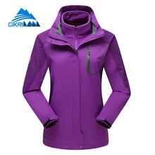 New 3in1 Outdoor Winter Windproof Waterproof Jacket Women Hiking Camping Ski Snowboard Coat Chaquetas Mujer With Fleece Liner