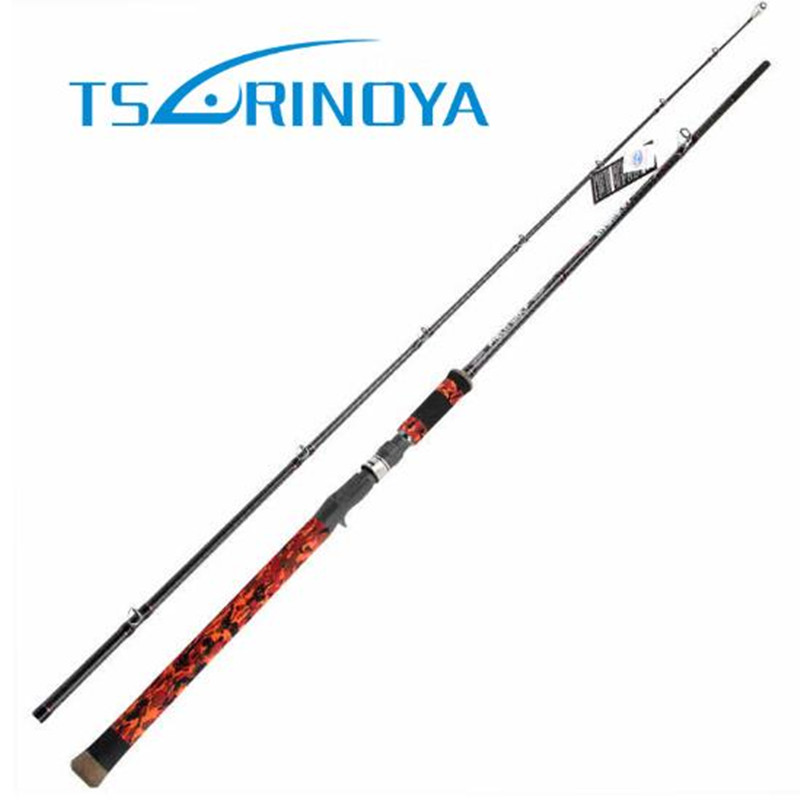 TSURINOYA 2.28m 2.4m 2 Sections Casting Fishing Rod XH/SH Power Lure Weight 9-25g With FUJI Guide Ring Fast Action Snakehead Rod