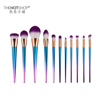 11 Pcs Makeup Brush Set High Quality Soft Wool Fiber Hair Professional Makeup Artist Brush Tool