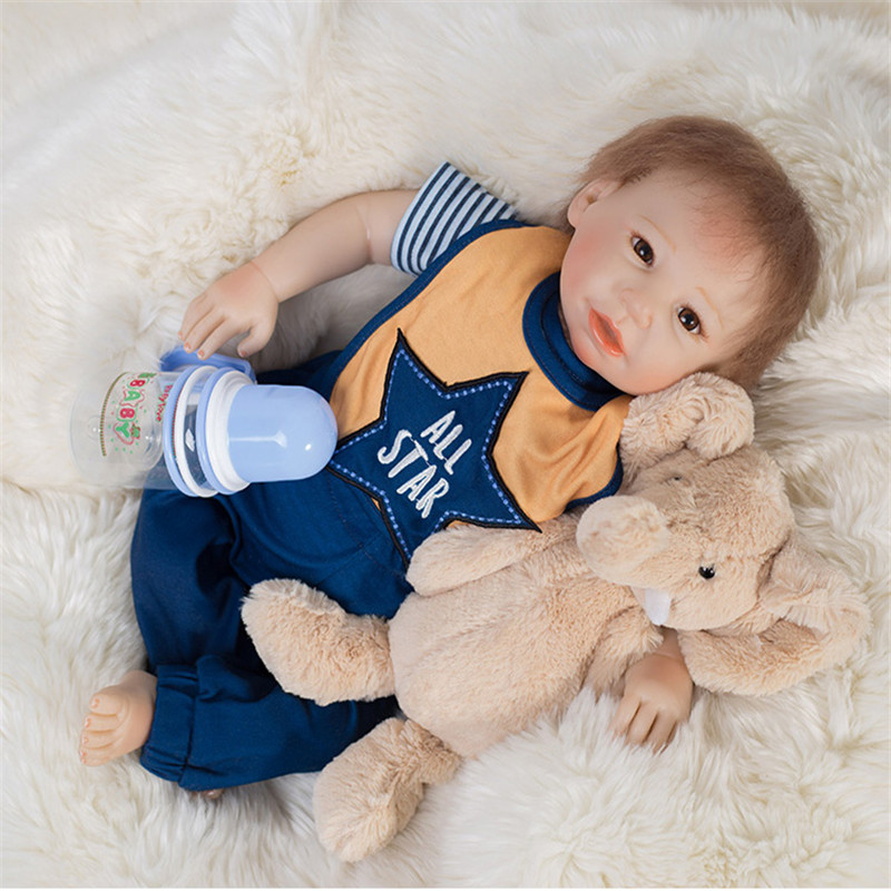 SanyDoll 20 inch 50 cm Silicone baby reborn dolls,  doll reborn fashion suit doll holiday giftsSanyDoll 20 inch 50 cm Silicone baby reborn dolls,  doll reborn fashion suit doll holiday gifts
