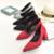 2016 Mujeres Bombas de Punta estrecha de Tacón Alto Zapatos de Mujer Elegante Dulce Del Vestido de Boda Zapatos de Novia
