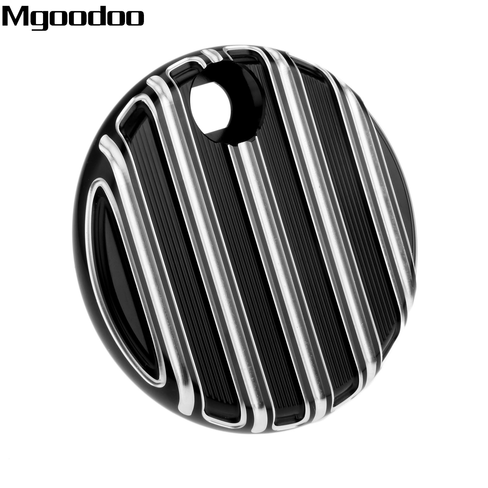 Black Aluminum Motorcycle Fuel Tank Cover Console Door Cover Fuel Cap Deep Cut For Harley Touring FLHX / FLTR / FLHT 2008-2016 brand new motorcycle cnc rc fuel tank gas cap fit for 1996 2014 harley sportster dyna touring softtail