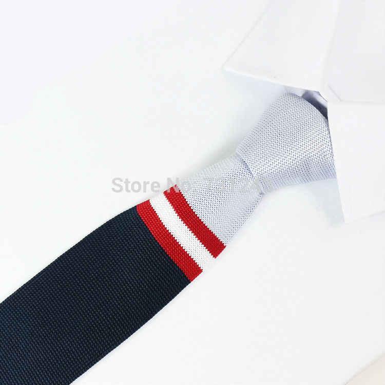 Lavorato a maglia Mens cravatte Poliestere cravatta In Maglia cravatta per gli uomini Del Partito di Marca di Affari Fatti A Mano A Buon Mercato Collo Cravatta