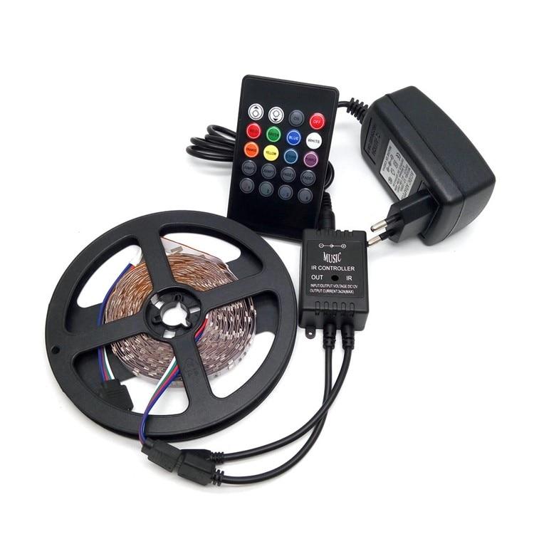 LED Strip Light 3528 RGB 5M 300 LED Set striscia luminosa flessibile - Illuminazione a LED