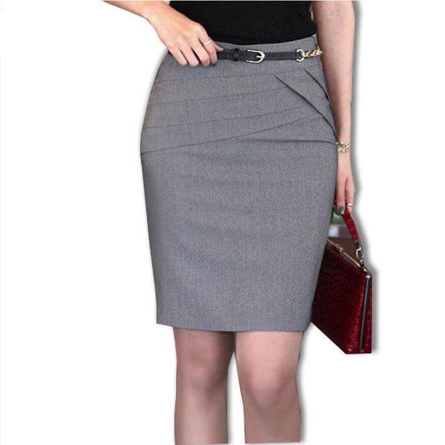 2cbf074821560 2019 Primavera Verano falda de la moda de las mujeres profesionales Falda  corta Falda Mujer Faldas