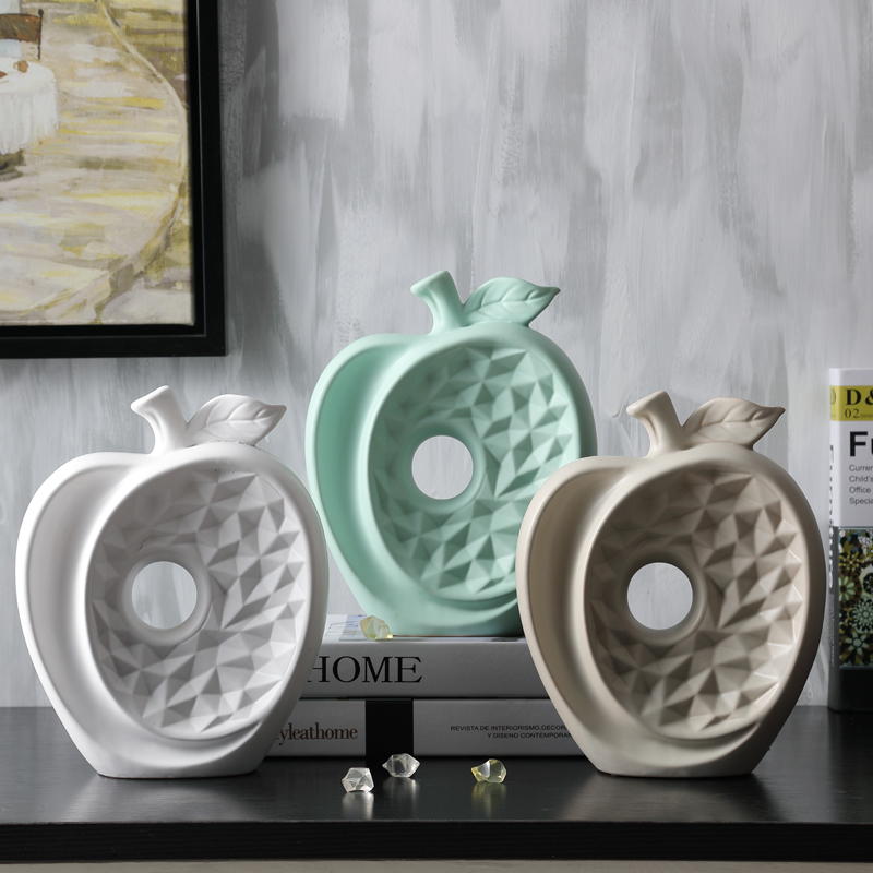 Apple Home Decor: ᐊMinimalist Ceramic Apple Ornament ⊰ Home Home Decor