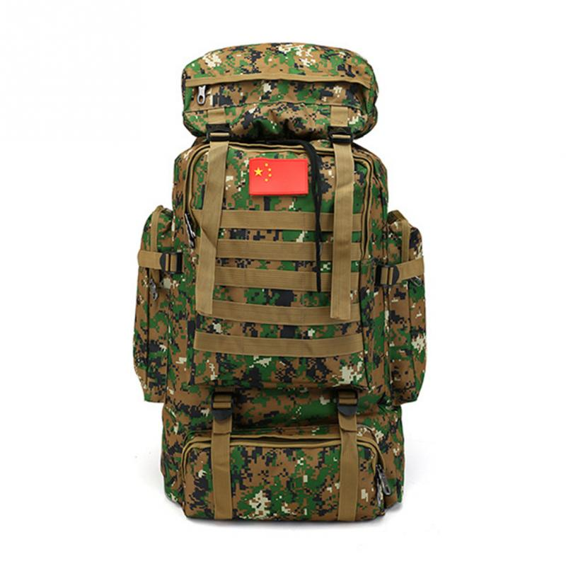 2018 1Pcs 70L Large Capacity Mountaineering Bag Outdoor Sports Camouflage Backpack Military Training Camping Luggage Backpack large capacity 60l waterproof handbag military tactical backpack outdoor sports camping climbing camouflage molle luggage bags