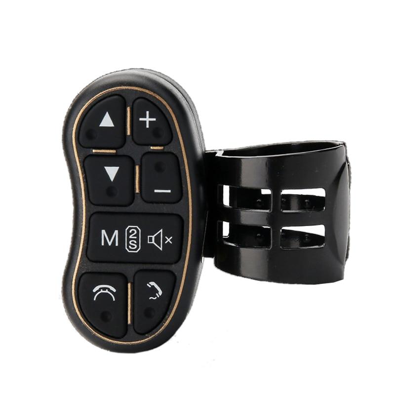 Car universal Steering wheel portable button remote control car navigationDVD Bluetooth controller audio volume Bluetooth contr аксессуар sp bluetooth remote 53043