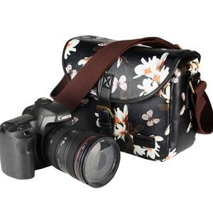 Image 2 - Wennew Su Geçirmez PU deri kılıf Fotoğraf Çantası kamera çantası Nikon D5300 D7200 D750 D5600 D5400 D5200 D3400 D3500 D3000 D90 D80