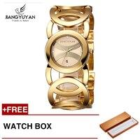 Jiangyuyan Women Luxury Bracelet Watch Fashion Brand Rose Gold Quartz WristWatches Ladies Dress Sport Watch Clock