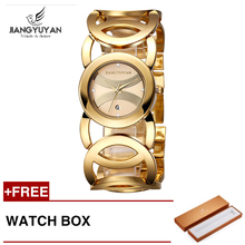 Jiangyuyan Women Luxury Bracelet Watch Fashion Brand Rose Gold Quartz WristWatches Ladies Dress Sport Watch Clock