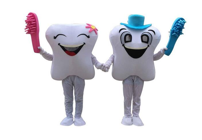 Teeth And Toothbrushes Mascot Costume Cartoon Character Langteng 100% Real Picture Free Shipping 2019New image
