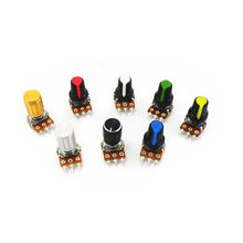 5pcs 10K 1K 100K 5K 50K OHM 3 Terminal Linear Taper Rotary potentiometer B10K 103 for Arduino(China)