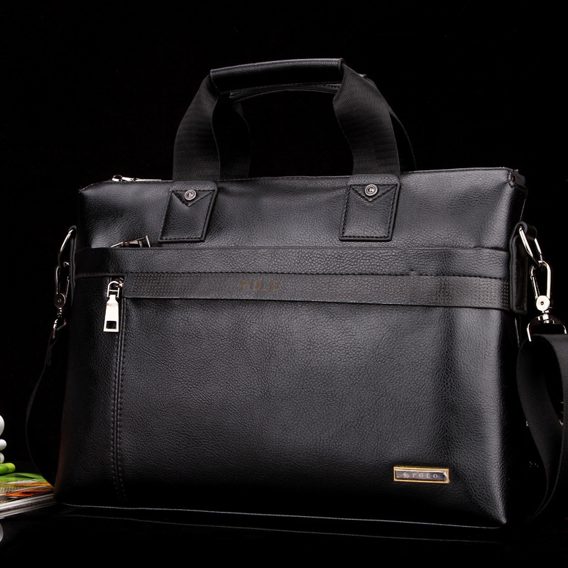 0cd479ce9609 POLO men bag Casual Briefcase Business Shoulder Genuine Leather Bag  Messenger Bag Computer Laptop Handbag Bag free shipping-in Briefcases from  Luggage ...