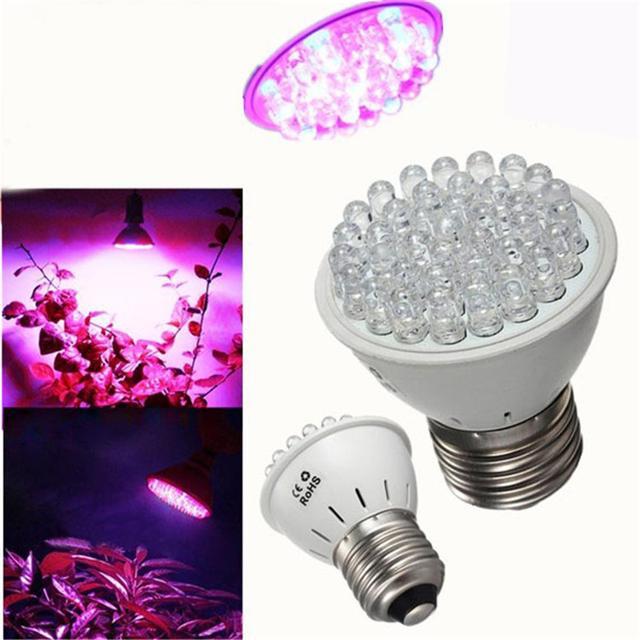 Full Spectrum LED Plant Grow Light Bulb E27 110V 220V 38 LEDs Indoor ...