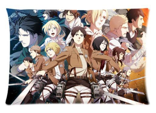 Zippered Anime Attack on Titan 2 Sided Print PillowCase