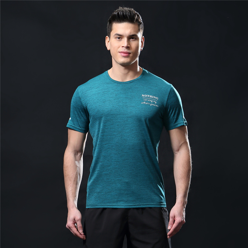 GANYANR Running T Shirt Men Basketball Tennis Sportswear Tee Sport Fitness Gym Jogging Tops Slim Fit quick dry Exercise Training 14