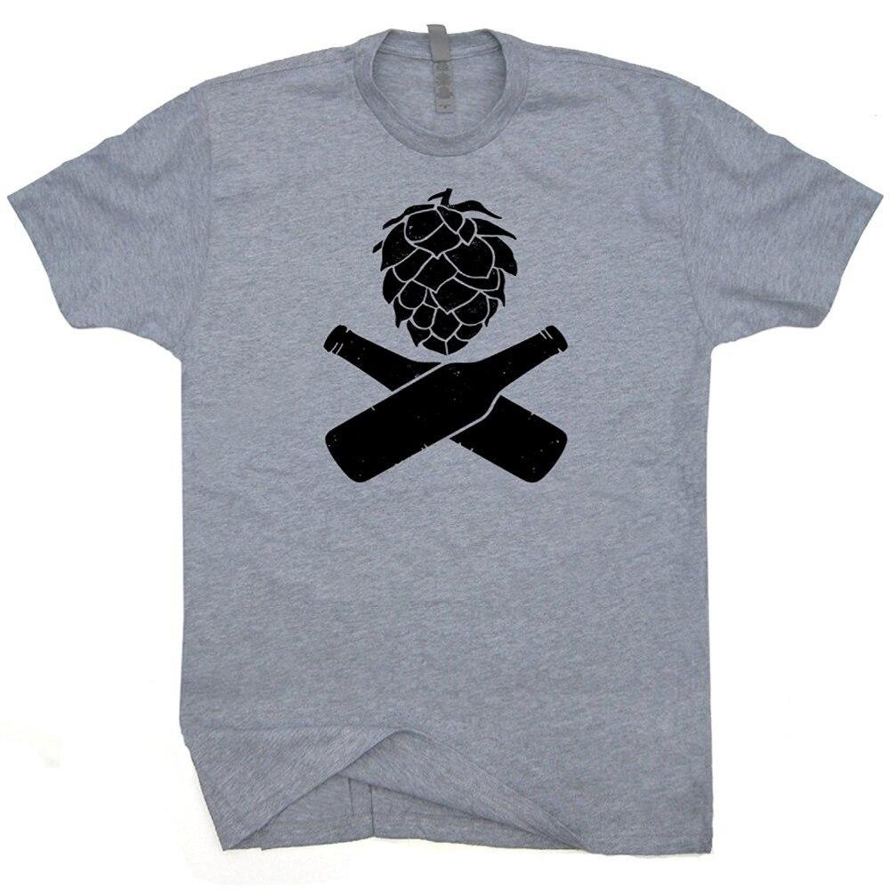 Newest 2017 men 39 s fashion hops beer t shirt craft beer for Funny craft beer shirts