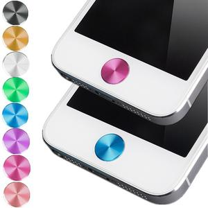 Universal 1 pcs Aluminizing Metal Home Button Sticker Decal Multi-color for iPhone