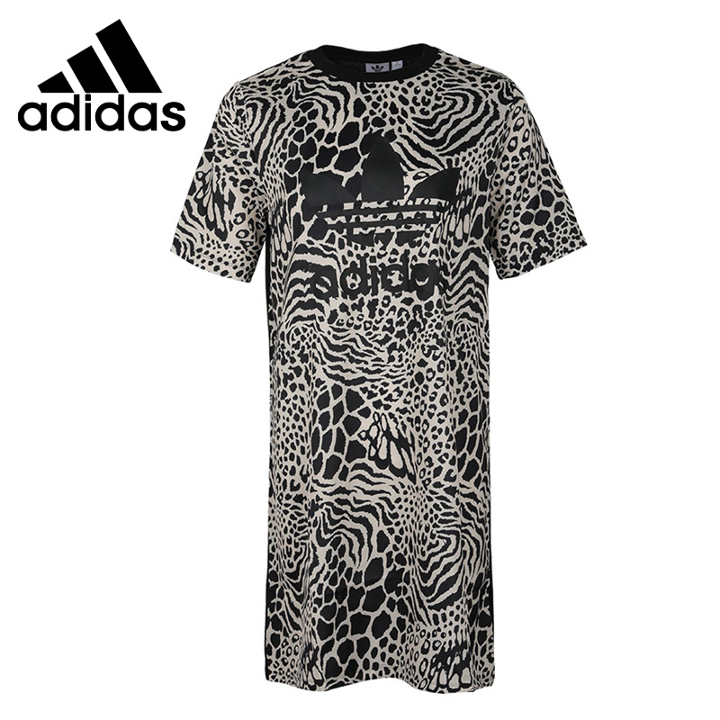 Original New Arrival Adidas Originals TEE DRESS AOP  Women's Dress Sportswear