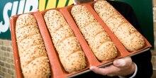 U-bahn Silikon Fiber Glass Brot Form Pfannen Silform Antihaft Perforierte Backform für Unter Rollen 4 Loaf Baguette tablett