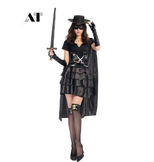 Costume de Super héros Halloween pour les braqueurs chevaleresques vêtements Costumes d'épéiste mascarade Zorro Cosplay Costumes