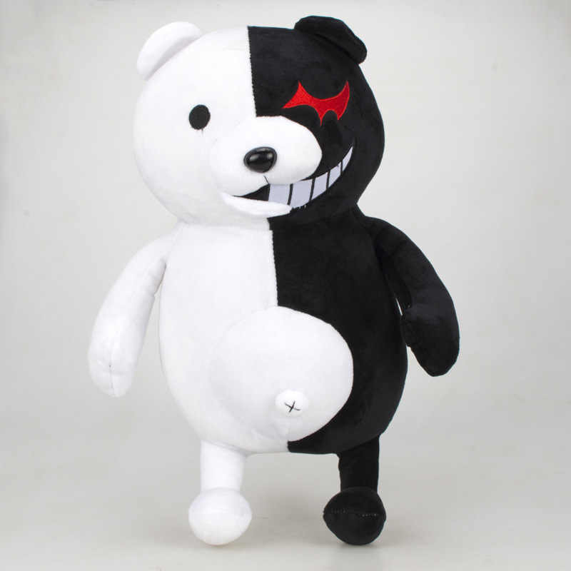 25 cm 2 Super Danganronpa Dangan Ronpa Monokuma Black & White Bear Plush Soft Toy Stuffed Animal Dolls Presente de Natal