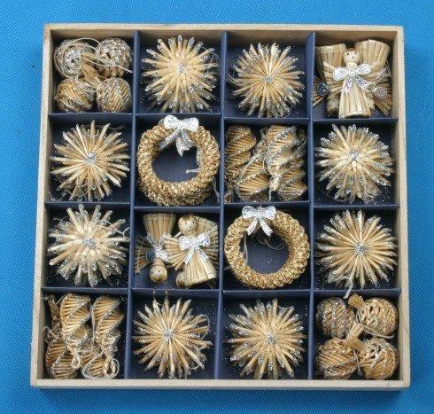 Adornos de árbol de navidad de decoración de navidad 56pcs conjunto - Para fiestas y celebraciones - foto 3