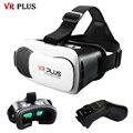 2017 vr plus vrbox 3.0 headset capacete de realidade virtual óculos 3d google papelão hd revestimento de lentes de vidro para smartphone 4-6'