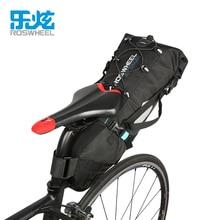 ROSWHEEL 10L 100% Waterproof Bike Bag  Saddle Bag Cycling Mountain Bike Back Seat Rear Bag Bicycle Accessories ATTACK SERIES