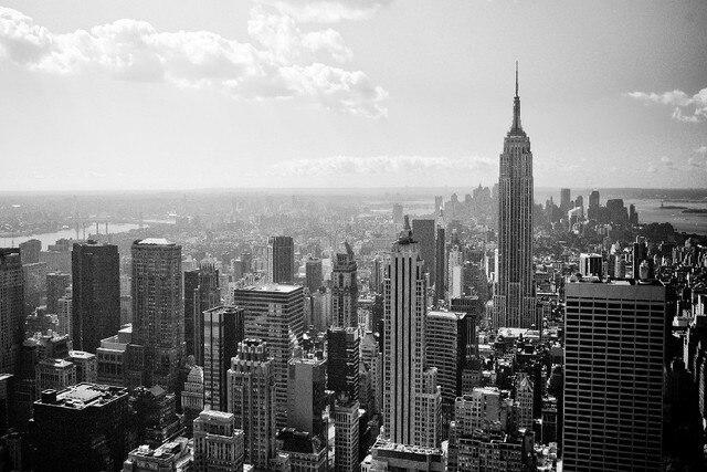 Diy Frame 2pcs Choose Manhattan Empire State Building New York City Usa