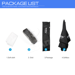 """Image 2 - Godox Portable 120 cm/47 """"parapluie + nid dabeille grille Photo Softbox réflecteur pour Flash Speedlight"""
