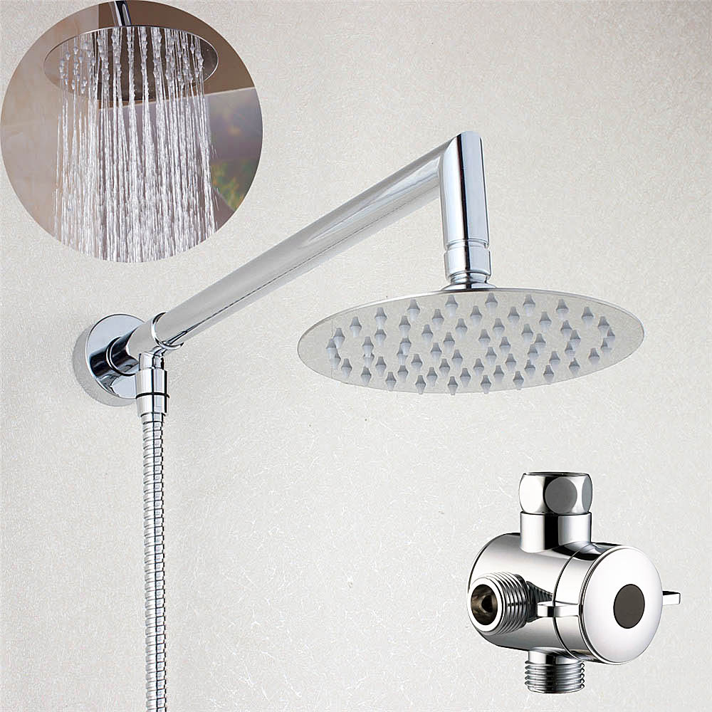 Bathroom 6 Or 8 Inch Round Rain Shower Head With Brass
