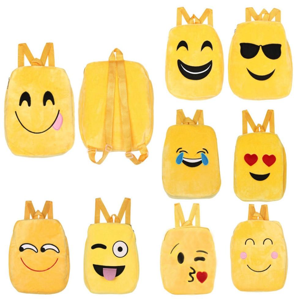 10 stile Carino Sacchetto di Scuola Dei Bambini Emoji Emoticon mochila feminina Satchel Zaino Borse zaino rugzak Borse Moda per la Bella Gir