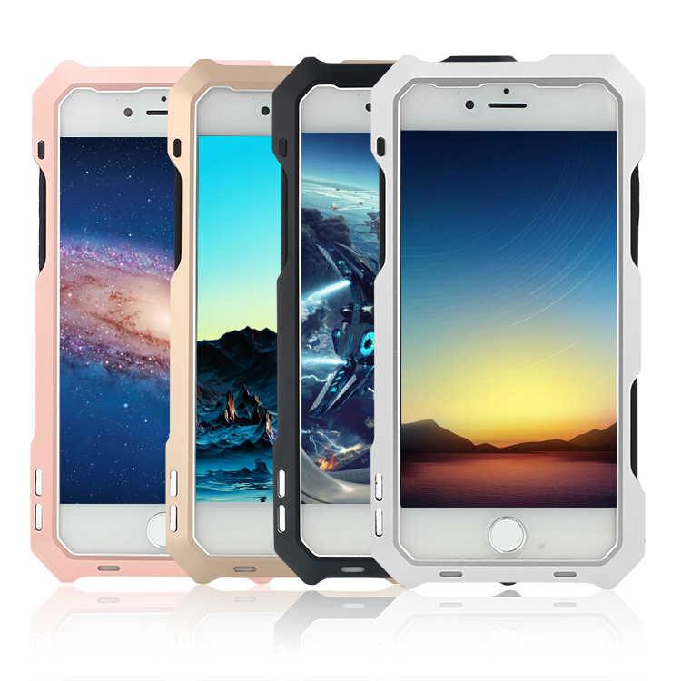 I8 Роскошные doom Броня Грязь Шок Водонепроницаемый металла Алюминий сотовый телефон чехол для iPhone 7 8 4.7 Case Fisheye широкоугольный объектив R-просто