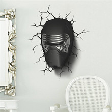 star war Awakens Dark Knight helmet wall stickers home decal boys bedroom decor poster for kids room