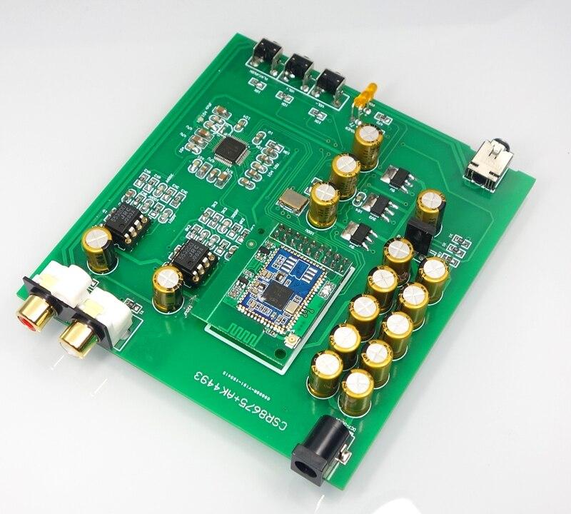 GHXAMP CSR8675 ultime Bluetooth 5.0 carte décodeur DAC prise en charge APTX HD AK4493 RCA casque amplificateur haut-parleur DC12V bricolage